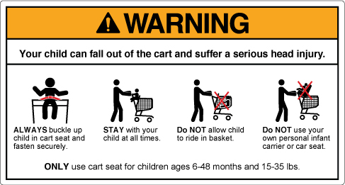 New ASTM Shopping Cart Warning